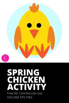 (1) Spring Chicken Kid Craft with Free SVG File | Kelly Lollar Designs