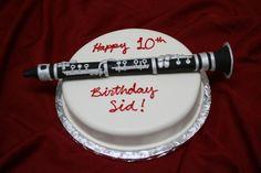 Fondant clarinet cake