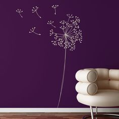 Snowdon - Dandelion wall decal - grey. $35.00, via Etsy.