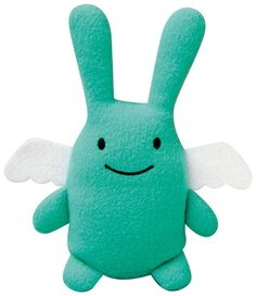 Peluche Ange Lapin Turquoise Trousselier