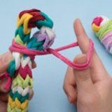 How to fingerweave a DIY jumprope out of old socks and tights! Great craft for kids!