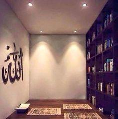 Design Inspirations for a Prayer Room at Home - CasaNesia Room Interior Design, Home Room Design, House Design, Ramadan Decoration, Prayer Corner, Islamic Decor, Prayer Room, House Rooms, My Room