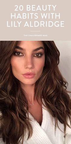 From her pre-Victoria's Secret runway menu to her obsession with aloe water, Lily Aldridge is sharing her beauty habits All Things Beauty, Beauty Make Up, Hair Beauty, Beauty Habits, Beauty Secrets, Hair Secrets, Beauty Tips, Victoria Secrets, Victoria Secret Hair