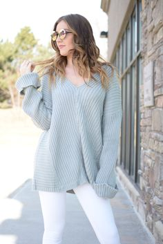 Grey Denver Oversized Sweater