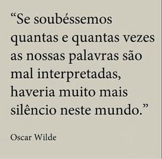 Oscar Wilde #palavras #silêncio