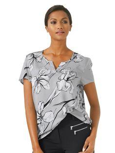 Alba Moda White Blusenshirt Alba Moda, Elegant, Ruffle Blouse, Shirts, V Neck, Tops, Fashion, Breien, Gowns