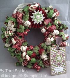 Deck The Halls - With A Festive Flurry Curly Paper Wreath!