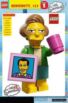 LEGO EDNA CAPRAPALL  SIMPSONS  2 MINIFIGURE,MINI FIGURE , MINIFIGUREN