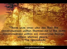 Attaining eternal peace through consciousness ~ The Upanishads ~ Feeling Unwanted, Thank You For Loving Me, Wise One, Love Is Not Enough, Collective Consciousness, We Are All Connected, Spiritus, Soul Searching, Spiritual Wisdom