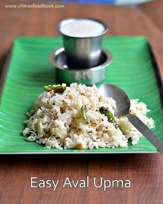 Easy Aval Upma - Poha Upma - South Indian Tamil nadu version - Easy breakfast recipes
