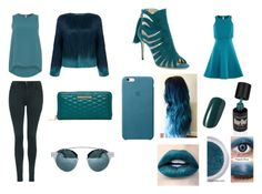 """""""Day and Night 5- Dark Cyan"""" by marianaraposo on Polyvore featuring Dorothy Perkins, Unreal Fur, Topshop, Paul Andrew and Rebecca Minkoff"""