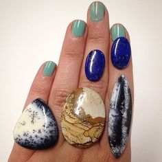 @blackfawnjewelry Been waiting for these to arrive for what seems like forever. Itching to make that slender dendritic opal into a badass ring. (Available for customs.)
