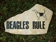Everyone's favorite breed rules, right? Say it on an engraved garden stone.