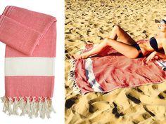 Ein weiteres Plus: An den schönen Hamamtüchern bleibt Sand kaum haften