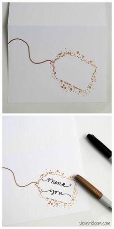 Tarjetas Diy, Envelope Art, Diy Christmas Cards, Christmas Envelopes, Christmas Gifts, Cute Cards, Cute Thank You Cards, Handmade Thank You Cards, Greeting Cards Handmade