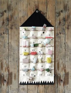 Calendario adviento tela
