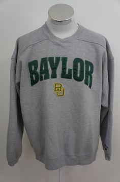 11a3efd6fef Starter Vintage 90 s Gray Sweatshirt Baylor University Size XL by yotaeji  on Etsy University Outfit