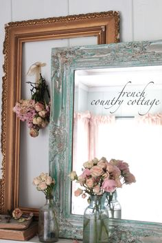 FRENCH COUNTRY COTTAGE: Vintage Patina with Pantone Emerald Green