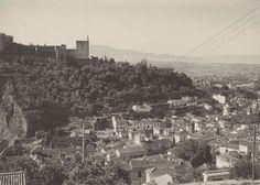 La Alhambra desde el Mirador de San Nicolás entre 1924 y 1930