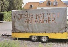 jesus hat viele anhänger.