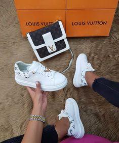 Womens Sneakers – High Fashion For Women Girls Sneakers, Sneakers Fashion, Louis Vuitton Shoes Sneakers, Aesthetic Shoes, Hype Shoes, Fresh Shoes, Sneaker Heels, Mode Outfits, Luxury Shoes