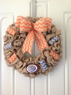 I think I'd do this a little differently but I love the idea & the blue and orange chevron ribbons