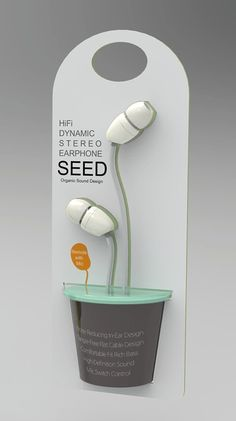 So cute and very creative. I love the way they made the earbuds and wire look like a flowers/plant. The colours work really well.
