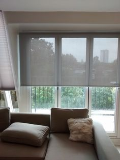 Sunscreen roller fitted to penthouse apartment in Clapham, London. http://www.theblindshop.com