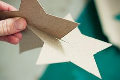 Holiday Gold Stars. This would make a cute and cheap holiday decorating idea.