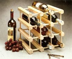 "Expandable 12-Bottle Custom Wine Rack by Lifestyle products of Vermont. $24.89. Add more racks for limitless space. Modular components allow you to custon ""build"" racks to various sizes. Space-saving design.  use on counters, in closets, under cupboards, or right on the bar. Octagonal wooden rails securely hold 12 or more bottles of wine.. Modular system for storing and displaying wines."