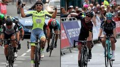Adam Blythe pips Mark Cavendish to the post .. and Hannah Barnes win GB Road Race i Stockton on Tees