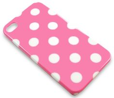 Pink Polka Dot Hard Back Cover Case Clip-On #iPhone 4 Kawaii Kitsch. #Phone #CraftSupply