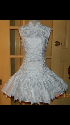 Michelle Lewis Irish Dance Solo Dress Costume with coat removed