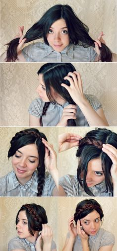 Part 1 of Braided Crown 3 Ways, The Criss-Cross Applesauce