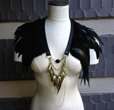 Steampunk Feather Cape Necklace by EvolveWell on Etsy