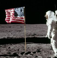 July 20, 1969: Alleged moon landing by Apollo 11. Not everyone who thinks the moon landing was faked is a crazy person. Some of them are engineers. Follow the link for some of the arguments. (Note: The appearance of the flag in this photo is NOT one of the arguments.)