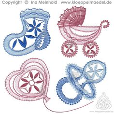 Unbenannt-3 Baby Prams, Lace Jewelry, Bobbin Lace, Crochet Projects, Diy And Crafts, Stencils, Kids Rugs, Pattern, Inspiration