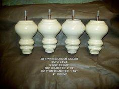 Furniture Legs Feet Couch Chair Ottoman Sofa Contour Candle Antique White Cream…