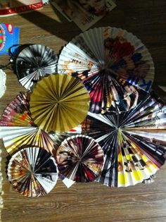 Recycled Pleated Paper Decorations