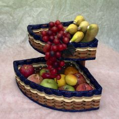 Double Corner Basket--For those messy, hard to reach corners, this basket is the perfect fit! You can organize your corner with this double stacker basket. It works great for fruits, vegetables, spices, medicines, or vitamins. If you have a corner in your kitchen then you need this one!