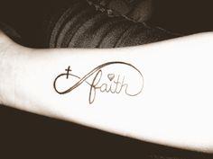 faith cross tattoo