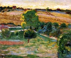 Landscape with Green Trees / Pierre Bonnard - circa 1921