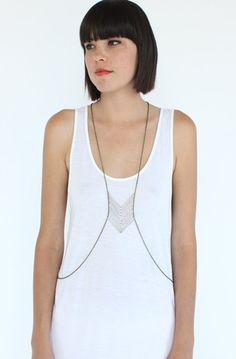 YO VINTAGE! - AK vintage jewelry - Temple Veil body chain Necklace