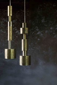 Metallic Totem Hanging Lamps