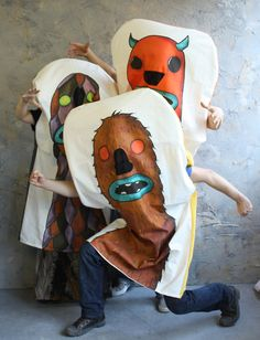 Life size finger puppets - that would make a fun Halloween costume!