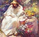 Jose Royo - Jose Royo Entre las Flores Canvas