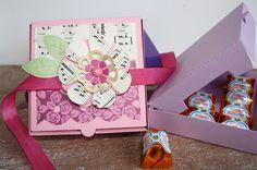 """3 Stk.  Geschenkbox """"Pizzakarton""""  von FrlBetty  auf DaWanda.com"""
