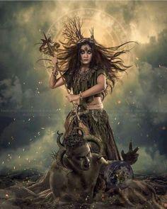 Photos of Maa Durga wallpaper. Image of Durga Maa full HD. Indian Goddess Kali, Durga Goddess, Indian Gods, Durga Maa Paintings, Durga Painting, Lord Durga, Durga Ji, Maa Durga Photo, Maa Durga Image