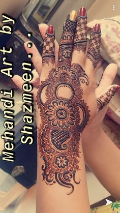 Henna Design By Fatima Traditional Mehndi Designs, Mehndi Designs Finger, Indian Henna Designs, Mehndi Designs For Kids, Legs Mehndi Design, Henna Art Designs, Stylish Mehndi Designs, Mehndi Designs For Beginners, Mehndi Design Pictures