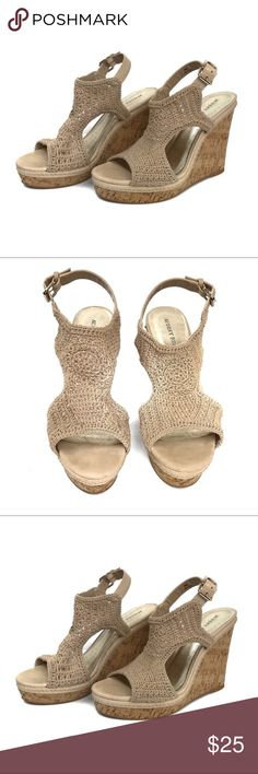 """Audrey Brooke Wallis Wedge Audrey Brooke Wallis Wedge size 9.5 in amazing condition. Perfect for summer and can be worn with Jeans, shorts or dresses!  Heel Size is 5"""" high. Audrey Brooke Shoes Wedges"""